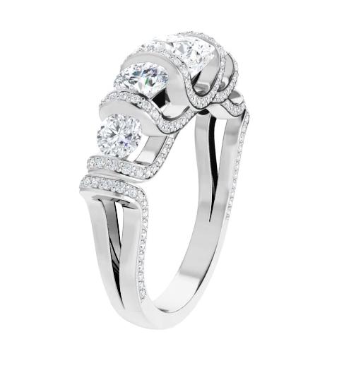 Cushion & Round Moissanite Anniversary Wedding Band Ring - 2.55tcw