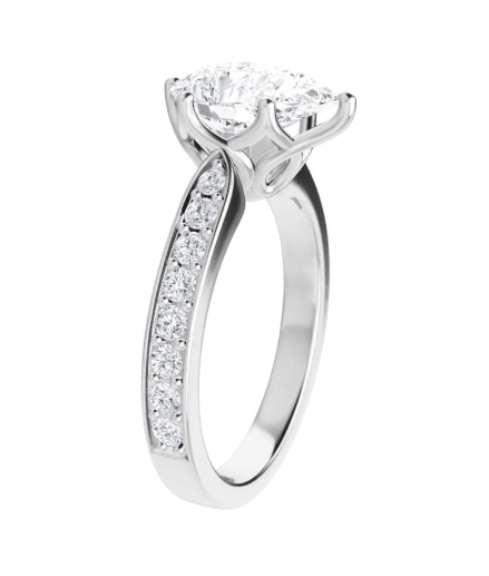 Pear Moissanite Engagement Ring - 1.95tcw - 4.02tcw