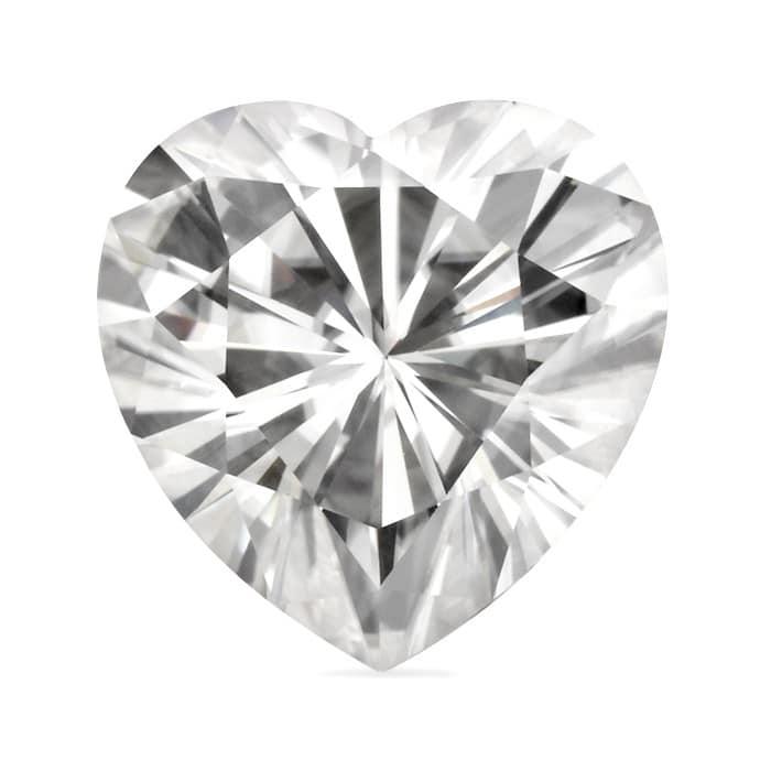 0.80ct Heart Moissanite Forever One DEF - 6.0mm