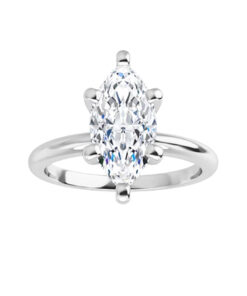 Marquise Moissanite Forever One Solitaire Ring
