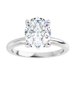 Ct Oval Moissanite Forever One Solitaire Ring