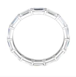 Baguette Moissanite Eternity Wedding Band Ring - 1.70tcw