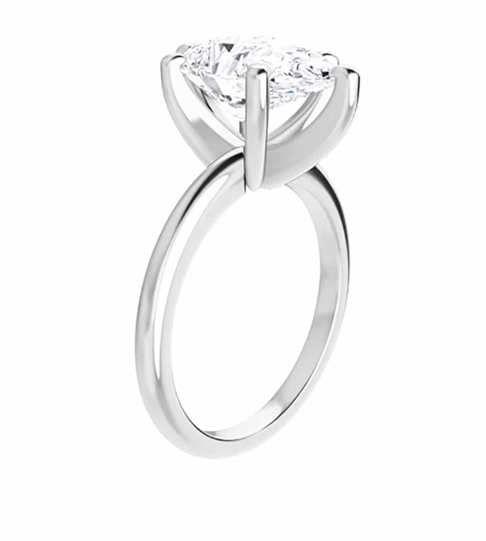 Classic Pear Moissanite Solitaire Ring - 0.95tcw - 3.57tcw