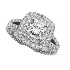 Cushion Moissanite Engagement Ring - 4.60tcw