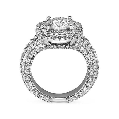 Cushion Moissanite Engagement Ring - 4.60tcw