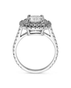 Cushion Moissanite Engagement Ring - 3.20tcw