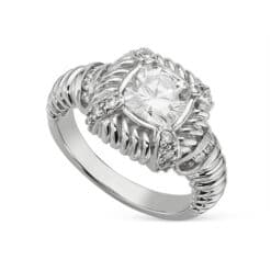 Cushion Moissanite Estate Style Ring - 1.60tcw