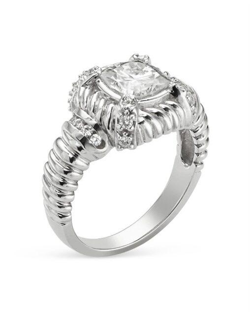 Cushion Moissanite Estate Style Ring - 1.60tcw