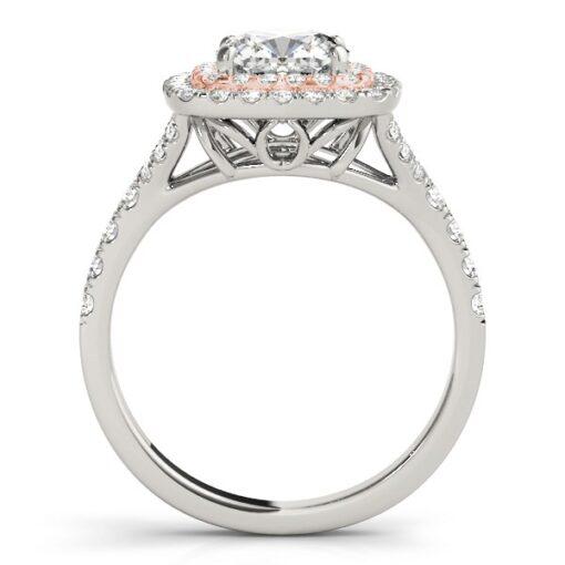 Cushion Moissanite Halo Engagement Ring - 1.10tcw - 2.20tcw
