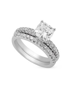 Cushion Moissanite Solitaire Engagement Ring - 1.20tcw - 5.22tcw