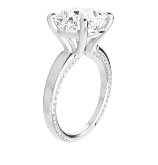 Cushion Moissanite Solitaire Ring - 2.45tcw - 5.75tcw