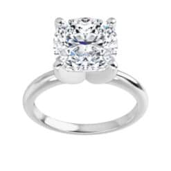 Cushion Moissanite Solitaire Ring - 1.10tcw - 5.02tcw