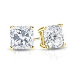 Cushion Moissanite Stud Earrings - 1.00tcw - 4.80tcw