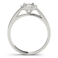 Emerald Moissanite Halo Engagement Ring - 1.55tcw - 4.05tcw