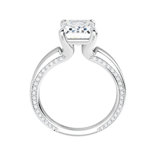 Emerald Moissanite Solitaire Ring - 2.50tcw - 5.70tcw