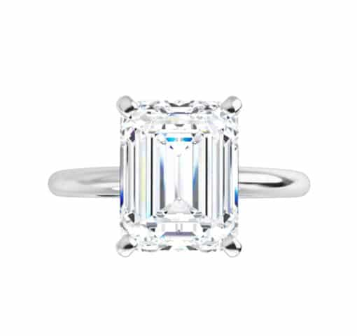 Emerald Moissanite  Solitaire Ring - 1.01tcw - 4.93tcw