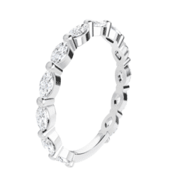 Marquise Moissanite Anniversary Wedding Band Ring - 0.84tcw - 2.30tcw