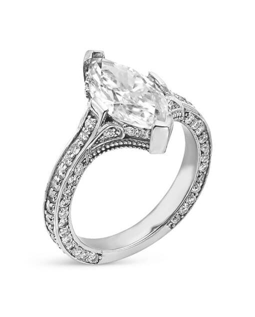Marquise Moissanite Engagement Ring - 2.80tcw