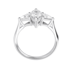 Marquise & Trillion Moissanite 3 Stone Ring - 1.60tcw