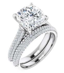 Oval Moissanite 3 Stone Ring - 2.00tcw - 3.50tcw