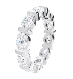 Oval Moissanite Eternity Wedding Band Ring - 5.00tcw