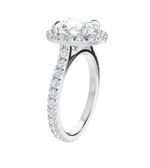 Oval Moissanite Halo Engagement Ring - 2.50tcw - 5.20tcw