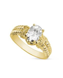 Oval Moissanite Solitaire Engagement Ring - 1.50tcw