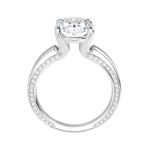 Oval Moissanite Solitaire Ring - 2.25tcw - 4.95tcw