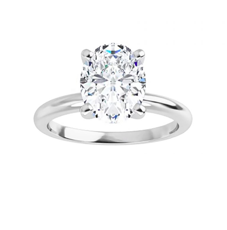 Oval Moissanite Solitaire Ring - 0.90tcw - 5.80tcw