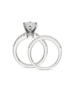 Pear Moissanite Solitaire Engagement Ring - 1.70tcw - 3.77tcw