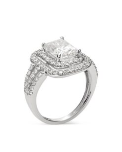 Radiant Moissanite Double Halo Engagement Ring - 5.00tcw