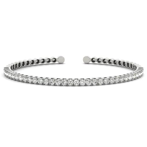 Round Moissanite Bangle Bracelet - 1.05tcw - 3.00tcw