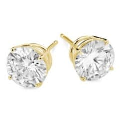 Round Moissanite Basket Stud Earrings - 1.00tcw - 5.40tcw