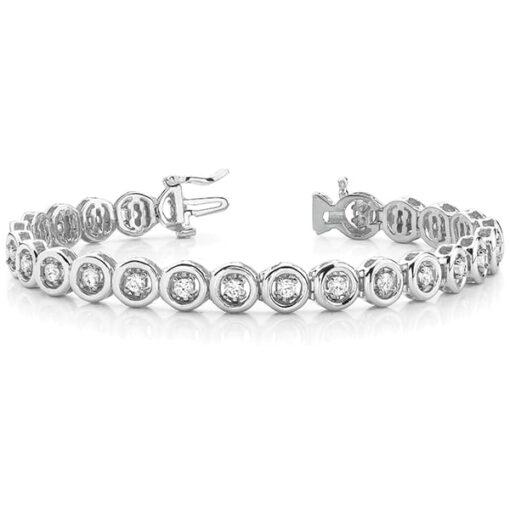 Round Moissanite Bezel Tennis Bracelet - 1.50tcw - 2.30tcw