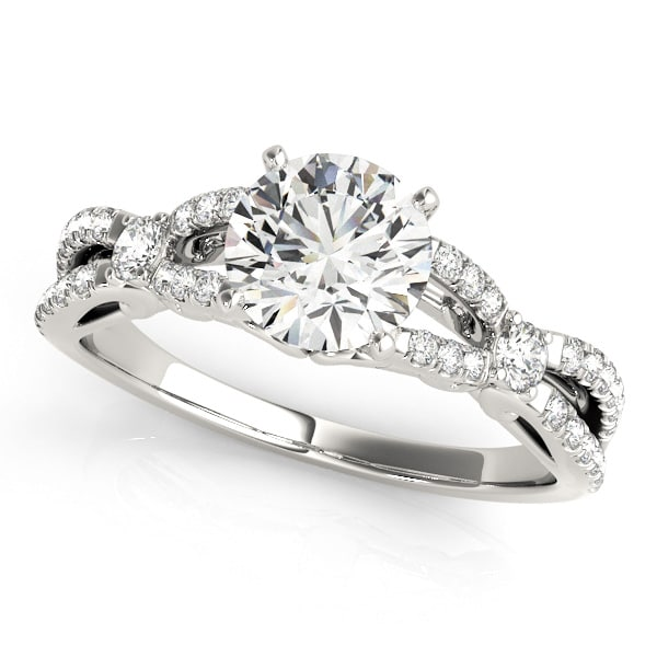 Round Moissanite Cross Band Engagement Ring - 1.75tcw