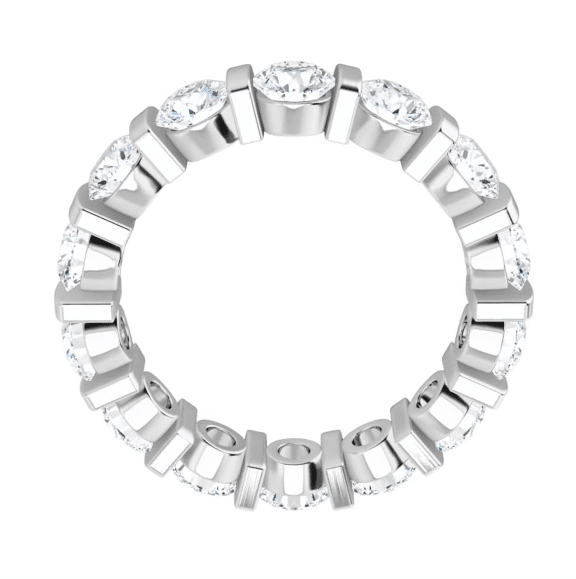Round Moissanite Eternity Wedding Band Ring - 3.50tcw
