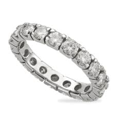 Round Moissanite Eternity Wedding Band Ring - 1.56tcw - 8.00tcw