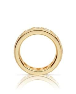 Round Moissanite Eternity Wedding Band Ring - 4.90tcw