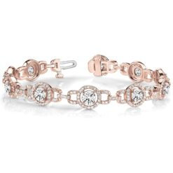Round Moissanite Fashion Tennis Bracelet - 5.08tcw - 7.56tcw