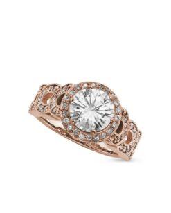 Round Moissanite Halo Engagement Ring - 2.70tcw - 2.70tcw