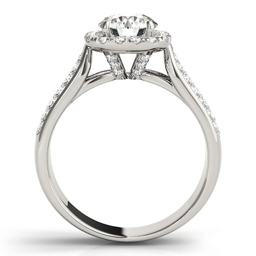 Round Moissanite Halo Engagement Ring - 2.55tcw
