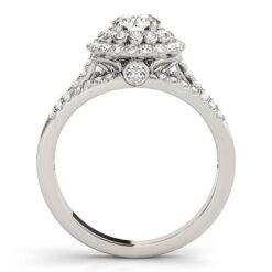 Round Moissanite Halo Engagement Ring - 2.30tcw