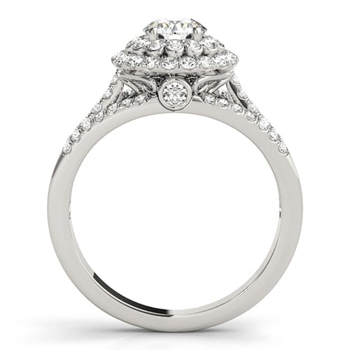 Round Moissanite Halo Engagement Ring - 2.30tcw