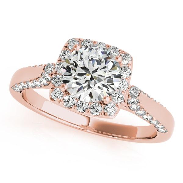 Round Moissanite Halo Engagement Ring - 1.40tcw