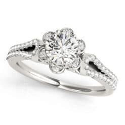 Round Moissanite Halo Engagement Ring - 1.25tcw