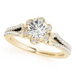 Round Moissanite Halo Engagement Ring - 1.25tcw