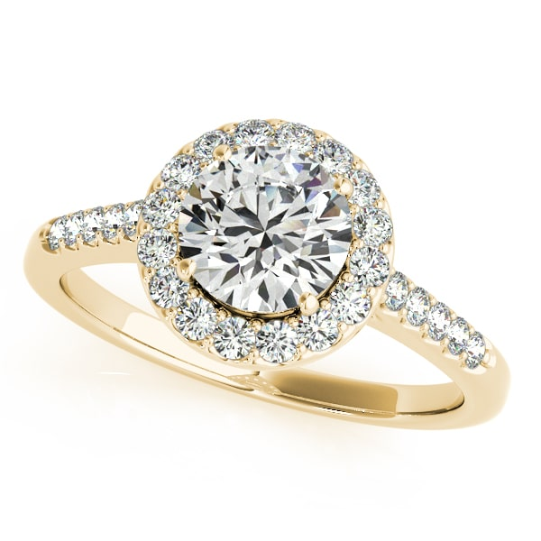 Round Moissanite  Halo Pave Engagement Ring - 1.38tcw - 3.08tcw