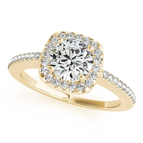 Round Moissanite Halo Pave Engagement Ring - 1.70tcw