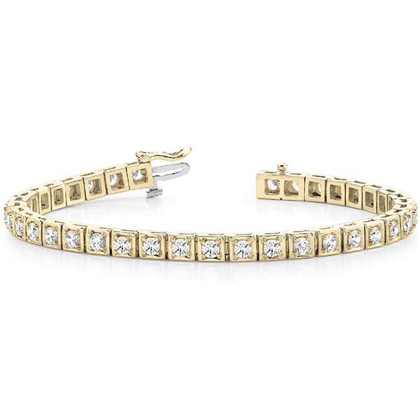 Round Moissanite Illusion Tennis Bracelet - 2.45tcw - 3.70tcw