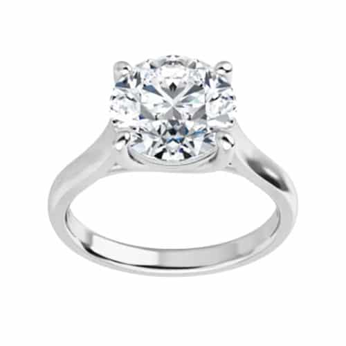 Round Moissanite Lucida Solitaire Ring - 1.00tcw - 6.13tcw